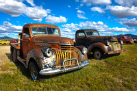 Old Chevy Farm Trucks,Montana