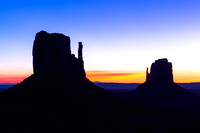 Monument Valley Silhouette