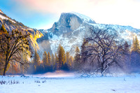 Winter Sunrise In Yosemite Valley