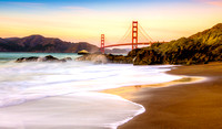 Baker Beach Sunset & Golden Gate Bridge