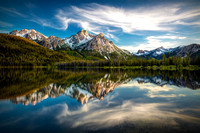 Sawtooth Mountain Morning Reflection, Idaho