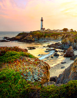 Golden Hour At Pigeon Point Lighthouse