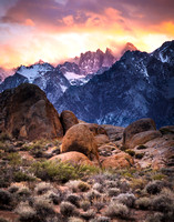 Mount Whitney Sunset, Lone Pine