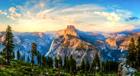 Heaven and Earth - Half Dome Sunset Pano